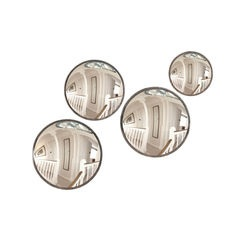 Set of 4 Round Convex Mirrors