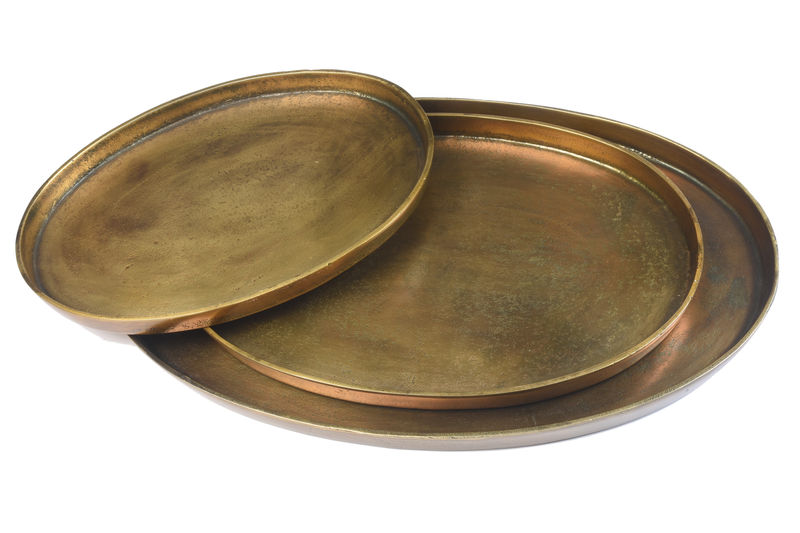 Oval Bronze Platter / Tray