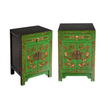 Pair of Bedsides - Green