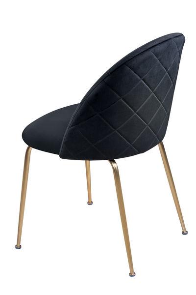 Onyx black velvet dining chair