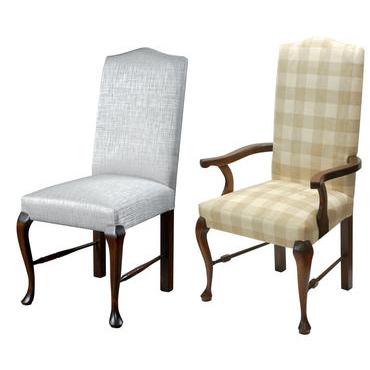 Elizabethan English Cabriole leg upholstered chair