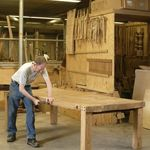 Thick Top Elm Table: Hand made in our Herefordshire workshops