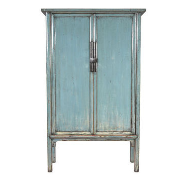 Tall Teal Blue Painted Cupboard