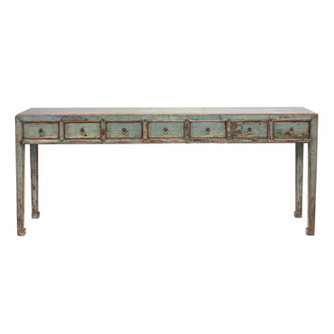 7 Drawer Painted Console