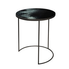 Large Charcoal Mirror Nesting Table
