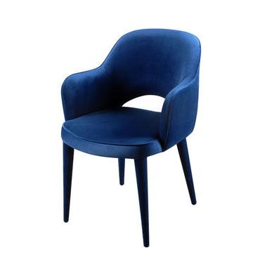 Highbury Blue Velvet Armchair