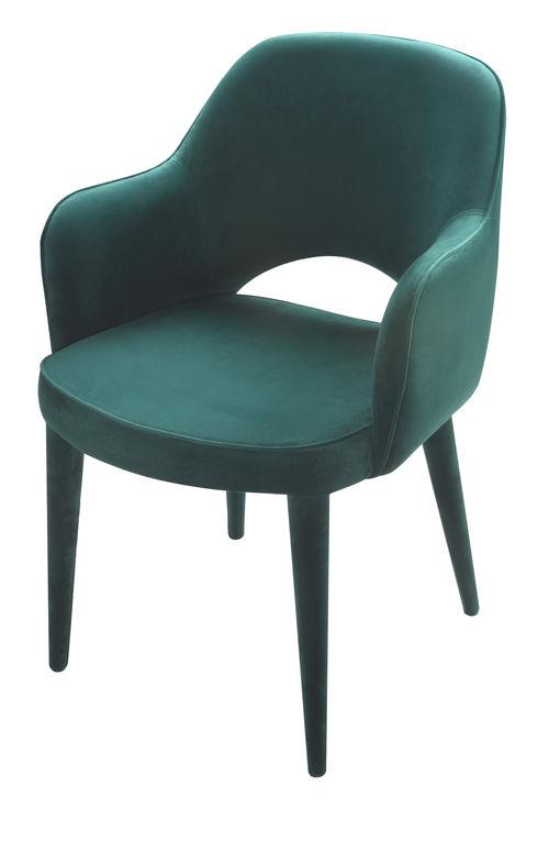 Cosy Green Velvet Armchair