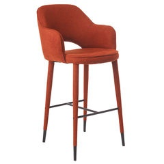 Cosy Barstool in Rust Fabric