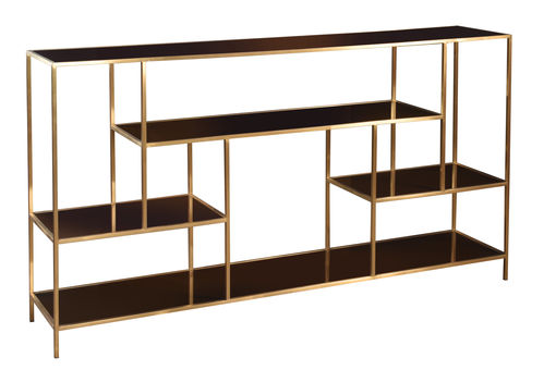 Low Art Deco Curio Shelves