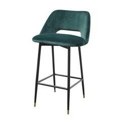 Fulham Bar stool in Green velvet