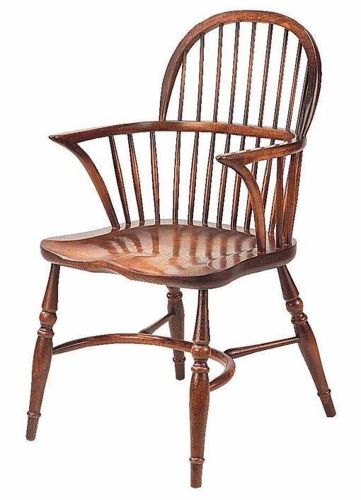 Lowback Windsor Stickback Armchair: G012 Windsor lowback arm