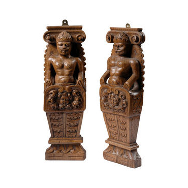 Pair of Carved Figures