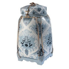 Tall Decorative Rice Pot - Sky Blue