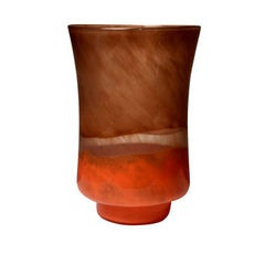 Incandescent Orange Large Glass Vase
