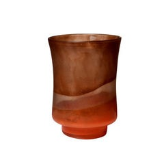 Incandescent Orange Small Glass Vase
