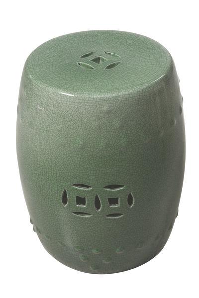 Green Crackle Ceramic stool
