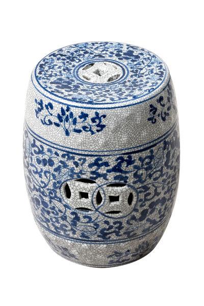 Blue & White Ceramic Stool