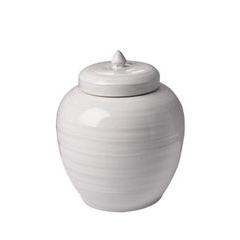 Small White Ceramic Tibor Jar