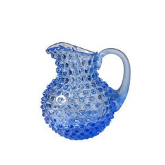 Small Light Blue Hobnail Pitcher