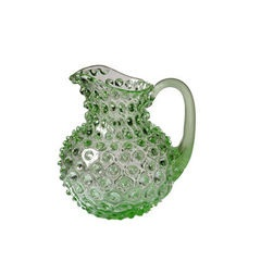 Small Glass Hobnail Pitcher - Green