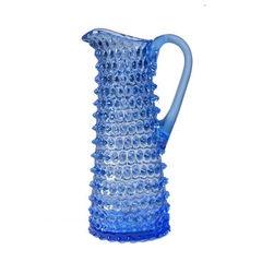 Tall Hobnail Pitcher - Light Blue