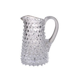Small Clear Straight Hobnail Pitcher
