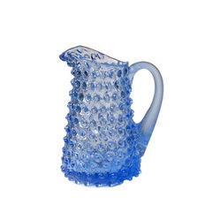Small Light Blue Straight Hobnail Pitcher