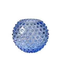 Small Light Blue Hobnail Vase