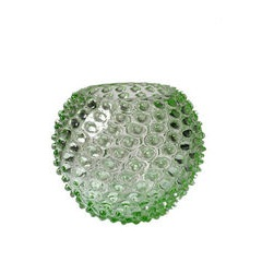 Small Green Hobnail Vase