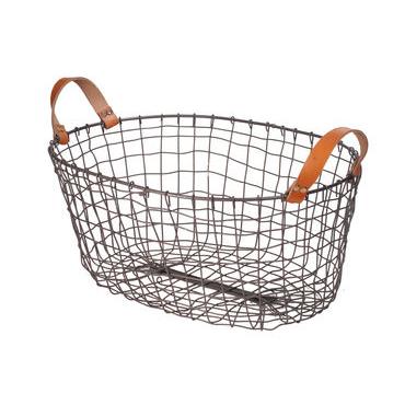 Large Oval metal basket