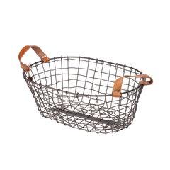 Small Oval Metal Basket