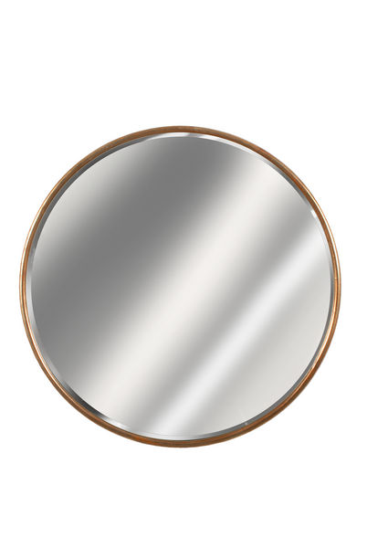 Gold framed round mirror mirrors accessories for Large round gold mirror