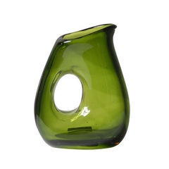 Glass Jug - Moss Green