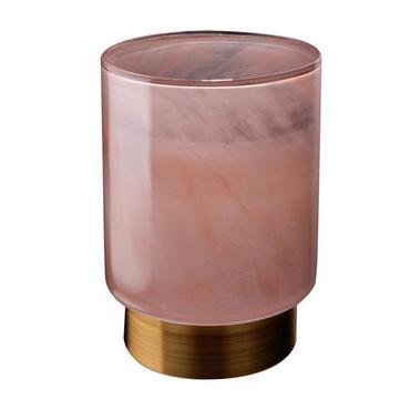 Pink Glass Candleholder