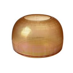 Amber checkered glass vase