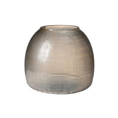 Grey checkered glass vase