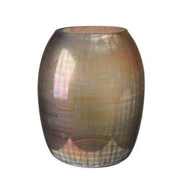 Brown checkered glass vase