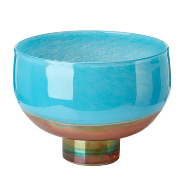 Acqua Gold Blue Bowl