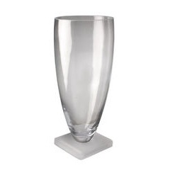 Tall Frosted Base Vase