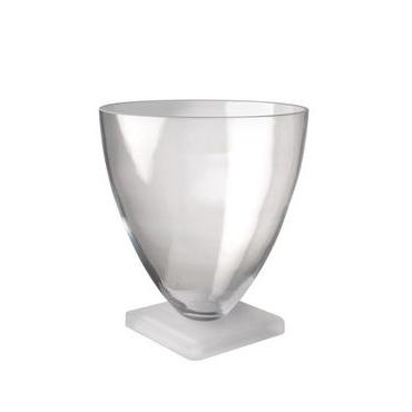 Large Frosted Base Vase