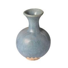 Round neck Blue Vase