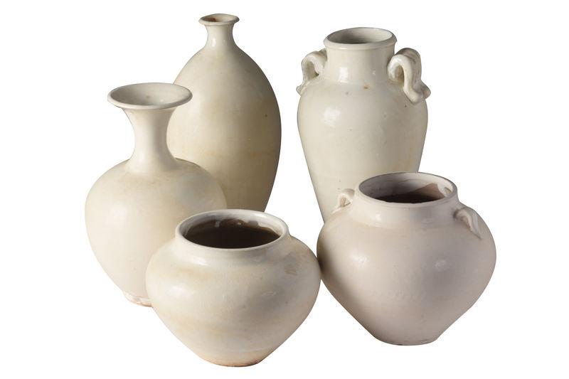 White Neck vase