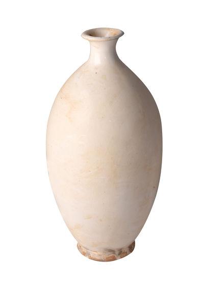 Tall thin neck White Vase