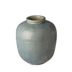 Tall Aged Blue vase