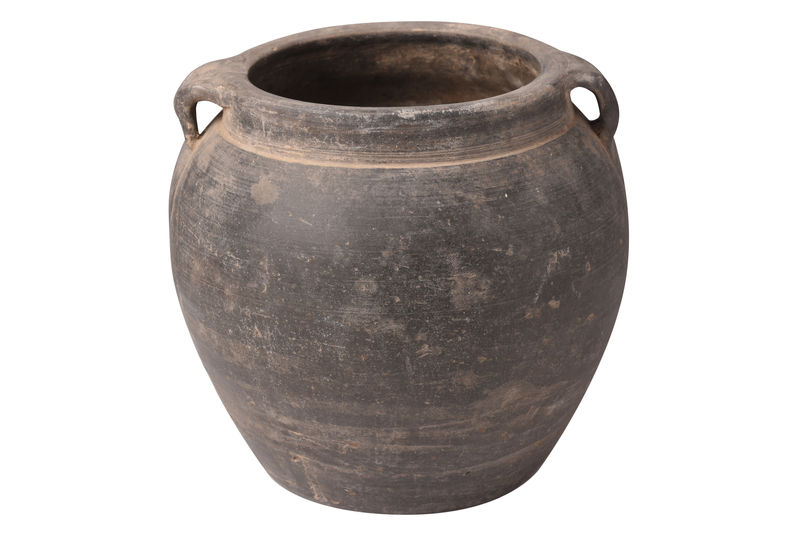 Small Old Black Terracotta Vase