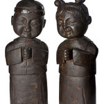 Set of Two Stone Statues