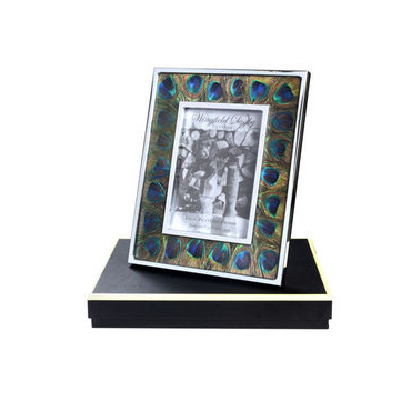 Peacock feather and Glass photo frame 7 x 5