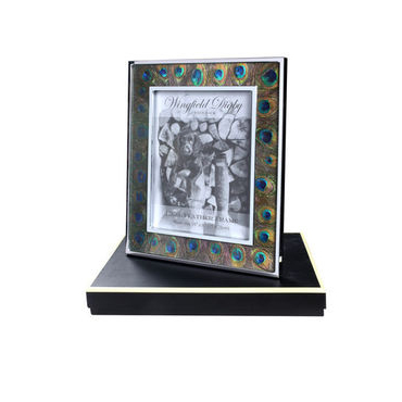 Peacock feather and Glass photo frame 10 x 8