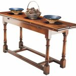 Refectory console table: Ideal as a console or serving table