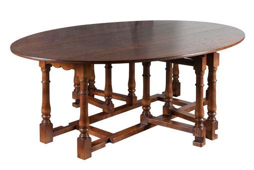 Double gateleg dining table